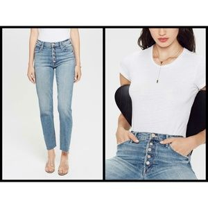 💕MOTHER Pixie Dazzler Ankle Fray Skinny Straight